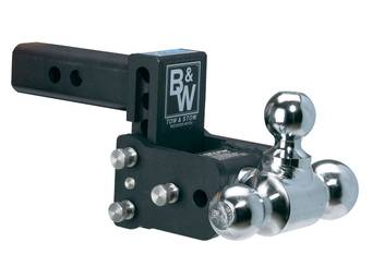 b w tow stow adjustable ball mount