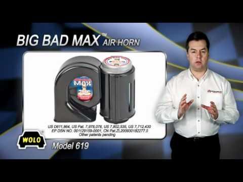 NEW Wolo 719 Big Bad Max Chrome Air Horn  12 Volt FREE SHIPPING